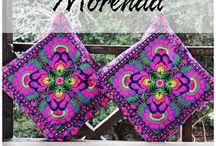 ColorChic ✿ Cojines ✿ Bordados / Cojines bordados de Tailandia