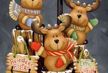 Navidad cerámica en frio