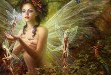 Sluagh Sìdhe and Other Wee Folk / Álfheimr, Changeling, Elf, Fairy, Jinn, Pixie / Pysky, Brownie....   / by MsCeri .