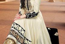Lush Cream Faux Georgette Anarkali Salwar Kameez
