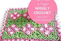 Crochet contoneado o wiggly
