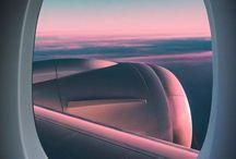 airplane window view-飛行機の窓からの眺め