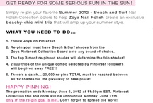 Giveaway Goodies. / Giveaways that I find on the internet through awesome companies, blogger friends, etc.