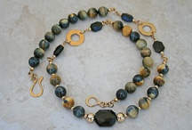 14K Gold Semi-Precious Necklaces