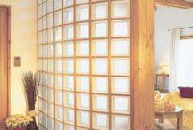 parede bloco de vidro