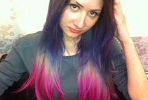 Dreamy hair and Dip dye end ideas / Coloured, pastel and grungy hair