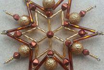 Vánoční hvězdy z korálků