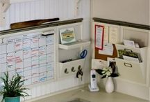 laundry room/office organization