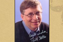 """Ravi Somani Autograph Collection /  William Henry """"Bill"""" Gates, richest person on this Planet. Here is his autograph, a special Gift from #Ravi Somani.     http://www.ravisomani.com"""