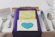 Reception Tables / Centerpieces, table numbers, place settings and more.