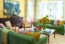 green sofa room