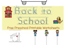 Back to School / Back to School activities and printables for preschool and kindergarten kids.