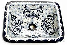 Umywalki meksykańskie wpuszczane prostokątne / Oryginalne ręcznie malowane umywalki wpuszczane prostokątne z Meksyku. Wysyłka z Polski na cały świat. Więcej znajdziesz tutaj: www.kolorymeksyku.pl #umywalka #umywalki #talavera #meksyk #kolorowa #umywalka