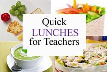Quick Lunches for Teachers / Quick & Easy lunch ideas for teachers. / by Tree Top Secret Education