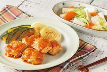 鶏肉のすりおろし生姜焼き  はんぺんのあっさり煮