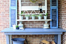 Potting Benches and Tables / Potting benches can help you stay organized by offering a convenient workspace, and are a nice décor piece for the garden. / by Garden Design