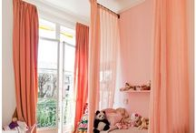 Girls Room / White Walls & Colorful