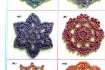 crochet flowers leaves and goodies