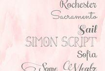 Prints, fonts, designs...