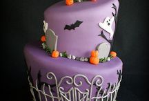 Halloween: Stacked Cake to Stacked Boxes - Inspirations / I'm picturing these fabulous cakes as stackable boxes in Halloween themes and colors / by Candace Jedrowicz