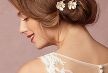 Mimosa - Bridal Up do's and Hair Adornments for Brides / Great ideas for wedding and bridal hair styling and wedding hair accessories.