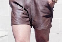 leder shorts / shorts