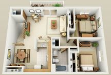 floor plan with 2 bedroom