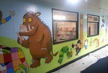 School foyer displays