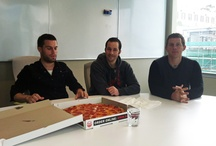 Pizza Competition / Sal's Pizza Deal turned into a competition to see who could eat a slice the fastest...