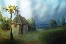 """Haitian Art- Ernst Jean-Louis 16""""x24"""" Landscape Oil on Canvas $500 / $500. Buy today this original primitive painting signed by the Haitian renown artist Ernst Jean-Louis dated circa 1990. It depicts a little isolated house in a rural area of Haiti   See more at: http://yhst-128639754014495.us-dc1-edit.store.yahoo.net/RT/NEWEDIT.yhst-128639754014495/726390b01db0/orpabyjeer16.html#sthash.FvzJef4E.dpuf"""