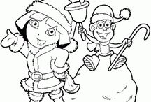 Dora the explorer coloring pages / This page has free dora the explorer coloring pages for kids,parents and teachers.