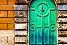 "Doors - 1 Cor. 16:9 ""because a great door for effective work has been opened to me..."" / I've done a study thru Scripture on the word ""doors"" God has revealed much to me thru this study. I am taking pictures, collecting pictures of doors, they are very symbolic to me. I love all that God is doing through the great doors He has opened for me! I love the effective work He has given me to do!  I pray that this section of my doors opens your Spirit to the amazing gifts of God, that you are moved in the deepest parts of your soul as you contemplate all the doors He opens! ~Kathryn Bonner / by Kathryn Bonner"