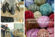 Endless Mountains Fiber Festival / Just look at all the fiber-y goodness you'll get at the Endless Mountains Fiber Festival at the Harford Fair Grounds in New Milford, PA! / by Noël Margaret
