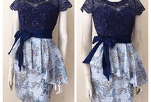 Model dress endek dan batik