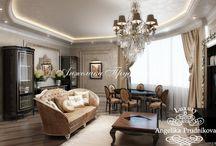 Дизайн квартиры в классическом стиле на улице Гарибальди / Интересный дизайн-проект интерьера апартаментов в классическом стиле спроектирован Анжеликой Прудниковой. В квартиры на улице Гарибальди мебель и элементы оформления выполнены преимущественно из натуральных материалов. Важно отметить, что комнаты не перегружены декором, при этом сохраняют дух статного классического стиля.