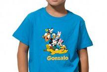 Camisetas Disney / Camisetas para los más pequeños de los personajes Disney