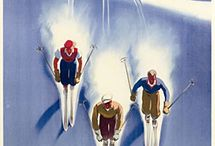 skiing posters