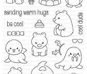 Stempel: Winter & Weihnachten / christmas/winter rubber stamps