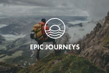 EPIC JOURNEYS / Make the journey from A to Z the essence of your trip. Hiking, biking, skiing and even customized vespa tours. Focus on growth, challenge and achievement.