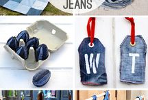 Recycled blue jeans projects