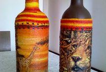 Pintura garrafa
