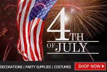 4TH OF JULY DECORATIONS, COSTUMES AND PARTY SUPPLIES / Independence Day is one of the most important celebrations of the year in the United States, and it's a great idea to join in with the occasion, with a 4th of July party that your friends and family will never forget, so you can create a party with a difference this year, and wow your guests with your gorgeous red, white and blue themed decorations.  Simply cook up a storm on the barbeque and you'll be well on the way to a real USA style Independence Day celebration!
