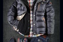 Male padded parkas