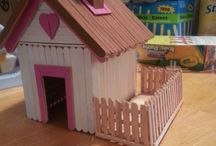 miniature houses and furniture and gardens