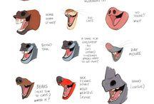 Tierschnauzen, lachend