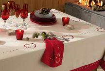 Nappes et déco de noël / Laissez-vous inspirer par nos idées de décoration et revêtez votre table de son plus bel habit de fête !