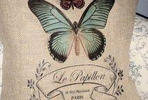 Almohadon de arpillera