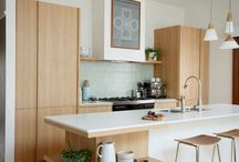 Design | Modern Kitchens / Modern kitchen designs. I love the use of raw materials in some of these images.