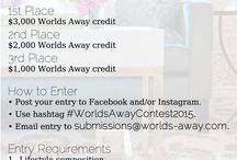 Lifestyle Photo Contest 2015 / Our 2015 Lifestyle Photo Contest!  All details here: http://bit.ly/WAContest2015  / by Worlds Away