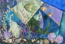 Crazy patchwork underwater